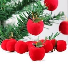 12 stuks kerstboom decoratie rode appel Hang Ornament met Nekkoord