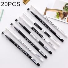 20 stuks creatief met tekst 0.5mm zwart ondertekening Pen neutrale Pen  willekeurige stijl-levering