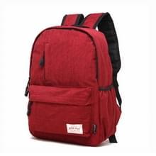 Universele multifunctionele 13.3 inch Laptop Schouderstas studenten Backpack voor MacBook, Samsung, Lenovo, Sony, Dell, Chuwi, Asus, HP, Afmetingen: 37 x 26 x 12 cm (rood)