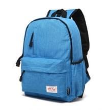Universele multifunctionele 13.3 inch Laptop Schouderstas studenten Backpack voor MacBook, Samsung, Lenovo, Sony, Dell, Chuwi, Asus, HP, Afmetingen: 37 x 26 x 12 cm (baby blauw)