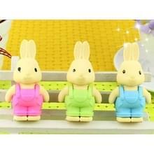 20 stuks creatieve Cute Cartoon konijn gum  willekeurige kleur levering