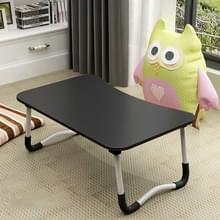 W-leg Type Adjustable Folding Portable Laptop Desk  with Non-slip Mat (Black)