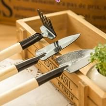 Hark schop graven Troffel 3 in 1 houten handvat metaal hoofd Mini tuin Plant hulpmiddel tuinieren Tool