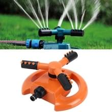 Tuin automatische roterende nozzle 360 graden roterende automatische sprinkler tuin gazon Watering nozzle irrigatie nozzle  toepasbaar voor 3/4 inch water pijpen (oranje)