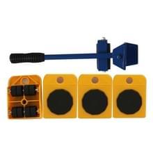 Zware meubels Home trolley lift en verplaatsen Dia's Kit 4 rollers & meubel lifter mover transport set (geel)