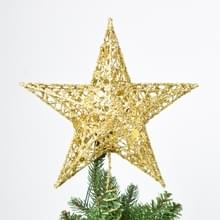 Glitter ijzer ster kerstboom Top decoratie Ornament  grootte: 30 cm x 25 cm  willekeurige kleur levering