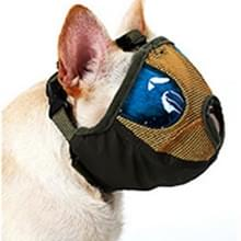 Verstelbare korte mond platte neus huisdier hond mond Cover muilkorf anti-bijtende blaffen comfortabele Camouflage  M  nek grootte: 28-48 cm (leger-groen)
