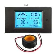 PZEM-061 4 in 1 DC digitaal Display Meter spanning meten Instrument  80-260V AC  100A(Black)