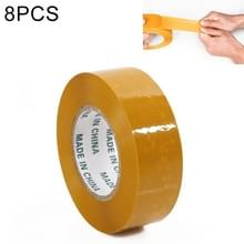 8 stuks 45mm breedte 25mm dikte pakket afdichting verpakking tape Roll sticker (geel)
