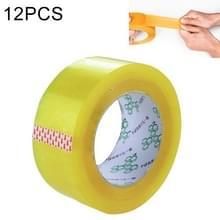 12 stuks 48mm breedte 15mm dikte pakket afdichting verpakking tape Roll sticker (transparant geel)