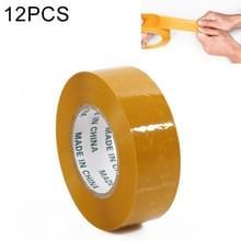 12 stuks 48mm breedte 15mm dikte pakket afdichting verpakking tape Roll sticker (geel)