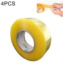 4 STKS 55mm breedte 32mm dikte pakket afdichting verpakking tape Roll sticker (transparant geel)