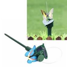Zonne-energie aangedreven elektrische roterende Butterfly Hummingbird decoratieve vliegen simulatie Butterfly huisdier grappige Toy tuinieren pastorale decoratie speelgoed