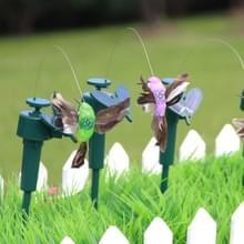Ornamenten trillingen zonne-aangedreven dansen vliegen van kolibries met veer  Tuin muur Yard decoratie tuinieren pastorale decoratie speelgoed  willekeurige kleur levering