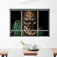 Creatieve 3D nep Windows Muurstickers Stickers Halloween Zombie wonen kamer slaapkamer decoratie Supplies  grootte: 48 5 * 68cm