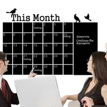 Kalender schoolbord muur stickers PVC verwisselbare Blackboard Office decoratie Suppliess