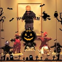 Halloween muur Stickers Haunted House geest pompoen Lamp muur Stickers weergave venster decoratie Sticker Set