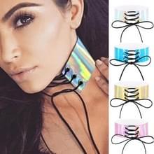 2 PC's Europese en Amerikaanse Simple Sexy gebonden kraag Fashion Laser huid gloeien ketting  willekeurige kleur levering