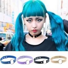 3 stuks Japanse Harajuku Fashion Street-snap Punk ronde discotheek lederen kraag armband  willekeurige kleur levering