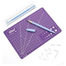 9Sea A5 snijden mat instellen snijden mat & liniaal & carving mes (paars)