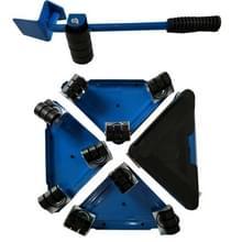 5 in 1 driehoek ijzer verhuizers Home Trolly zware meubels verplaatsen naar het opslaan van Effort(Blue)