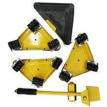 5 in 1 driehoek Iron Movers thuis trolly zware meubels verplaatsen om inspanning te besparen (geel)