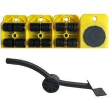 A3 staal/plastic Crowbar plastic mover dik gewicht bewegend gereedschap handige en praktische combinatie (geel)