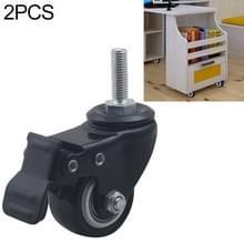 2 stuks 2 inch meubel kast koffietafel Silent schroef remwiel