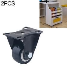 2 stuks 2 inch meubilair kabinet koffietafel stille directionele wiel