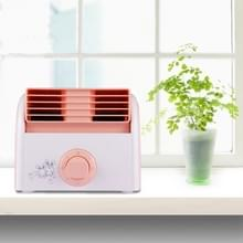30W Turbine No Blade Mini Desktop Mute Fan for Dormitory / Bedroom / Living Room / Office  3 Kinds Speed Mode  AC 220V(Pink)