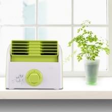 30W Turbine geen Blade Mini Desktop Mute Fan voor slaapzaal / slaapkamer / woonkamer / kantoor  3 soorten Speed modi  AC 220V(Green)