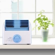 30W Turbine geen Blade Mini Desktop Mute Fan voor slaapzaal / slaapkamer / woonkamer / kantoor  3 soorten Speed modi  AC 220V(Blue)