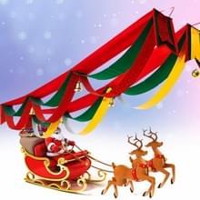 Kerst Wave vlag Tree decoratie Gift hanger Ornament Supplies met Bell  lengte: 4m  breedte: 20cm  willekeurige kleur levering