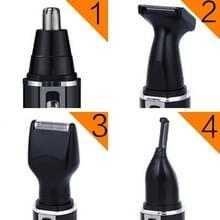 SPORTMAN vier-in-één oplaadbare oor neus rietenknipper elektrisch scheerapparaat baard gezicht wenkbrauwen tondeuse voor mannen  EU Plug(Black  220V)