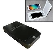 Multifunctionele mobiele telefoon gezichtsmasker UV-desinfectie Aromatherapie UltravioletLamp Steriler Desinfectiedoos (Zwart)