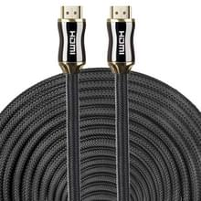 20m metalen Body HDMI 2.0 High Speed HDMI 19 Pin Male naar HDMI 19 Pin Male connectorkabel