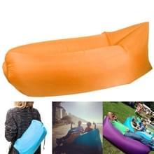 Opblaasbaar ligbed Polyester stof compressie airbag Sofa voor strand / reizen / Hospitality / Hengelsport  Size: 185 cm x 75 cm x 50 cm  normale Quality(Orange)