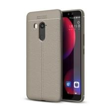 Voor HTC U11 ogen Litchi textuur dekken zachte TPU beschermende back cover(Grey)