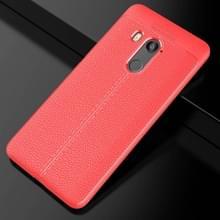 Voor HTC U11 ogen Litchi textuur dekken zachte TPU beschermende back cover(Red)