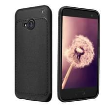 Lenuo Leshen serie voor HTC U11 leven TPU Litchi textuur Dropproof beschermende terug dekken Case(Black)
