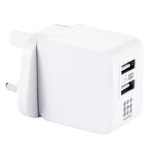 HAWEEL 2 USB-poorten 1A / 2.1a reislader  UK-stekker  Voor iPhone  iPad  Galaxy  Xiaomi  Huawei  LG  HTC en andere slimme Phoneswit