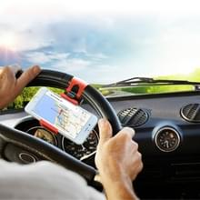 [UAE voorraad] HAWEEL universele auto stuurwiel telefoon mount houder  voor iPhone  Galaxy  Huawei  Xiaomi  LG  HTC en andere smartphones breedte van 5.5-8.6 cm smartphone (rood)