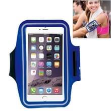HAWEEL Sport Armband Case met oortelefoon gat & sleutel Pocket voor iPhone 6 Plus  Galaxy S6 / S5(Dark Blue)