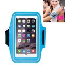 HAWEEL Sport Armband Case met oortelefoon gat & sleutel Pocket voor iPhone 6 Plus  Galaxy S6 / S5(Baby Blue)
