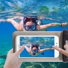 Transparante HAWEEL universeel Waterdicht tas met Lanyard voor iPhone 6 & 6 Plus / 6S & 6S Plus  Samsung Galaxy S6 / S5 / Note 5(zwart)
