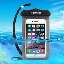HAWEEL transparant universele waterdichte tas met Nekkoord  voor iPhone  Galaxy  Huawei  Xiaomi  LG  HTC en andere slimme Phones(Black)