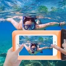 Transparante HAWEEL universeel Waterdicht tas met Lanyard voor iPhone 6 & 6 Plus / 6S & 6S Plus  Samsung Galaxy S6 / S5 / Note 5(Oranje)