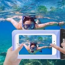 Transparante HAWEEL universeel Waterdicht tas met Lanyard voor iPhone 6 & 6 Plus / 6S & 6S Plus  Samsung Galaxy S6 / S5 / Note 5(blauw)