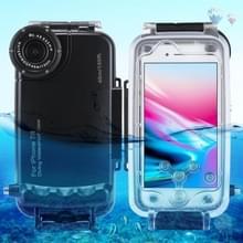 [Magazijn vae] HAWEEL 40m/130ft waterdichte duikhuis foto video het nemen van onderwater cover case voor iPhone 7 &8 (zwart)