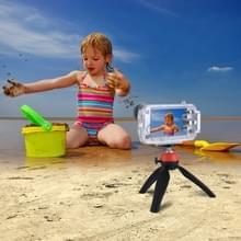 HAWEEL voor iPhone 8 & 7 Plus 40m / 130ft waterdichte duiken huisvesting Foto Video nemen onderwater Cover Case(Transparent)